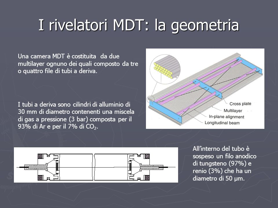 I rivelatori MDT: la geometria