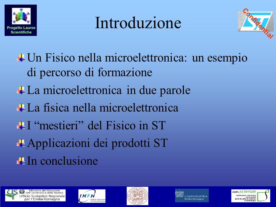 Introduzione Un Fisico nella microelettronica: un esempio di percorso di formazione. La microelettronica in due parole.