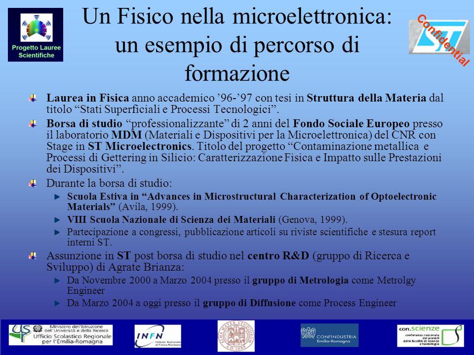 Un Fisico nella microelettronica: un esempio di percorso di formazione