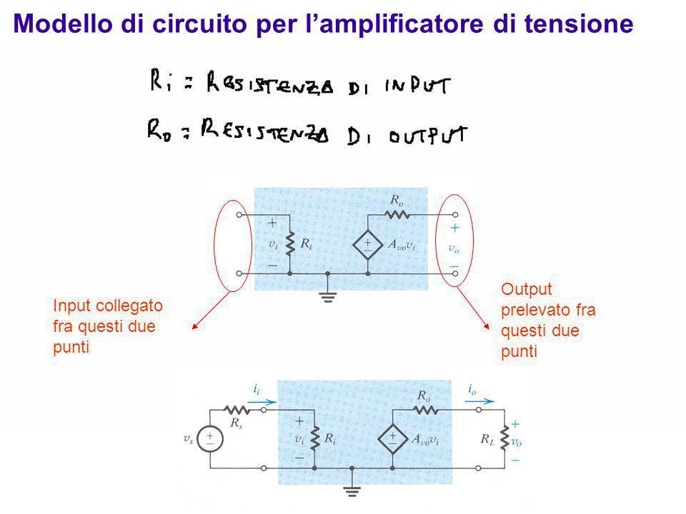 Modello di circuito per l'amplificatore di tensione