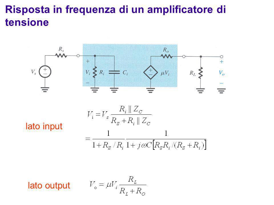 Risposta in frequenza di un amplificatore di tensione