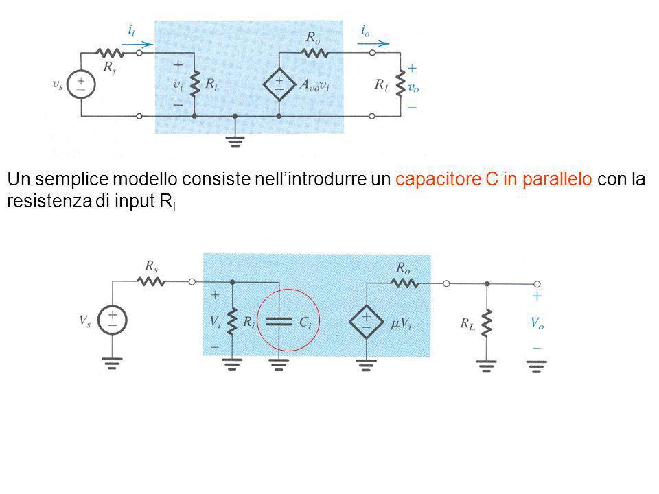Un semplice modello consiste nell'introdurre un capacitore C in parallelo con la resistenza di input Ri
