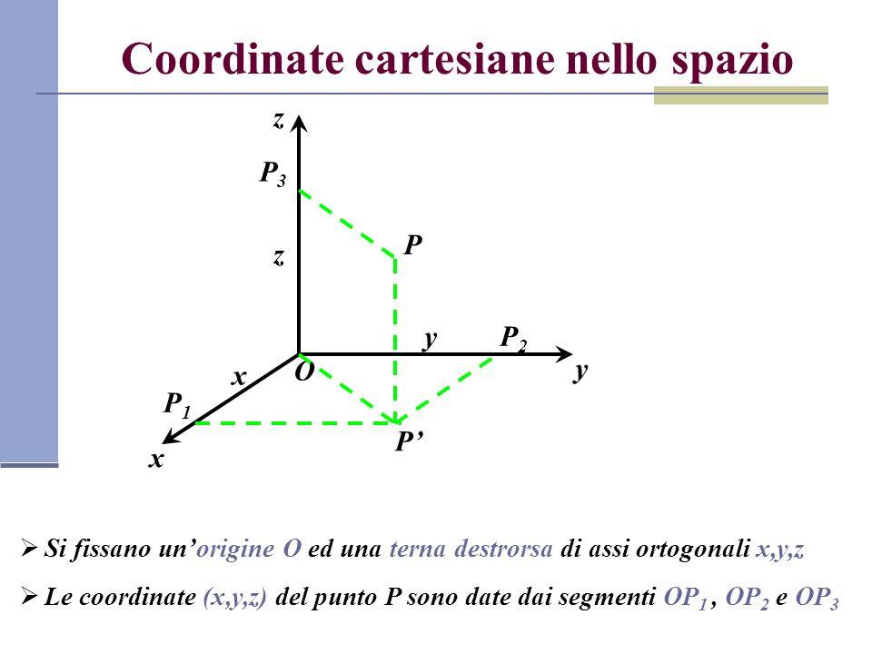 Coordinate cartesiane nello spazio