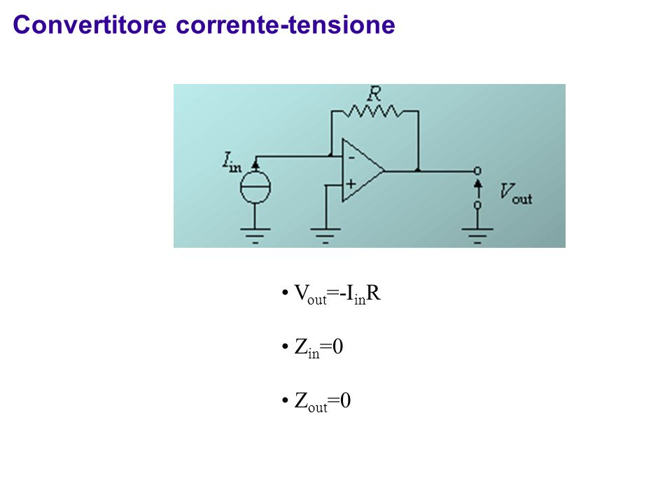 Convertitore corrente-tensione