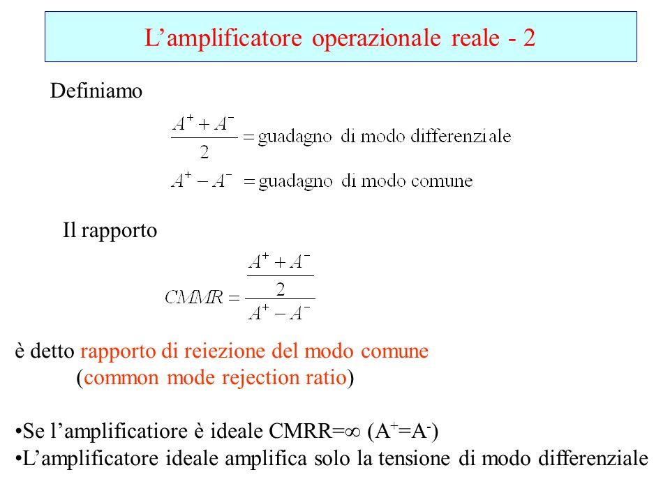 L'amplificatore operazionale reale - 2