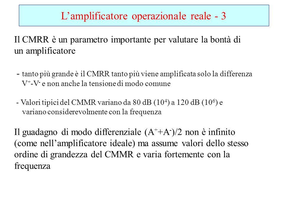L'amplificatore operazionale reale - 3