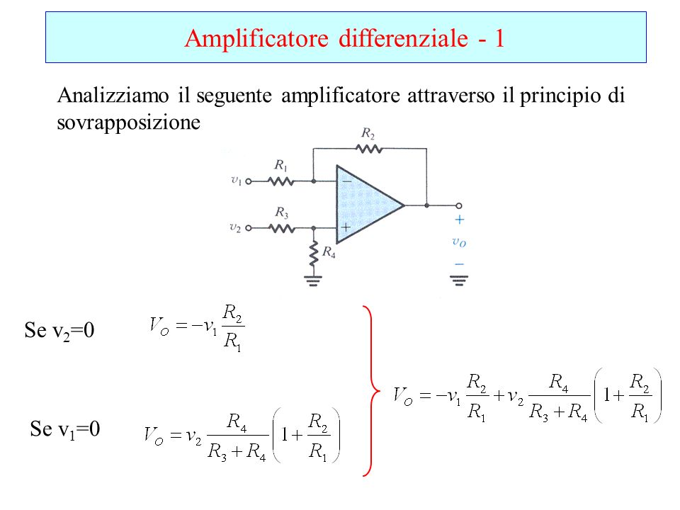 Amplificatore differenziale - 1