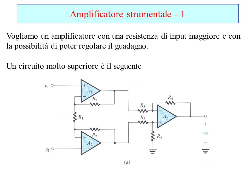 Amplificatore strumentale - 1