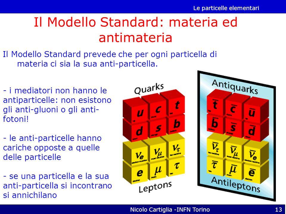 Il Modello Standard: materia ed antimateria