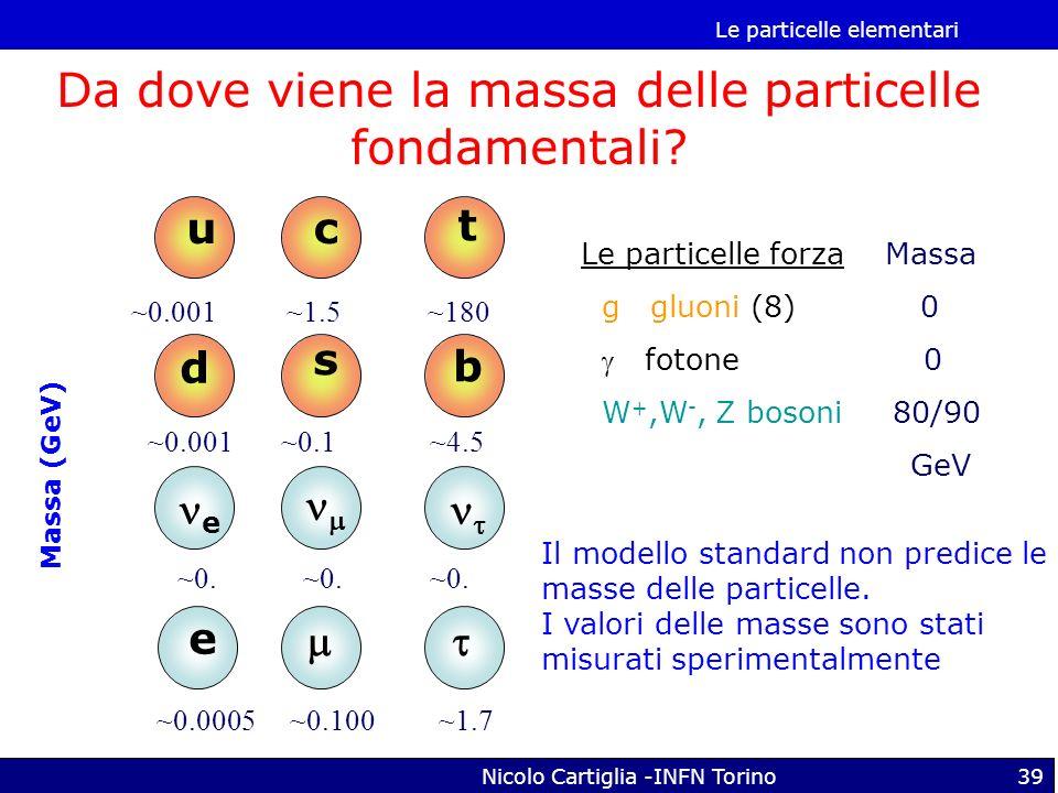Da dove viene la massa delle particelle fondamentali