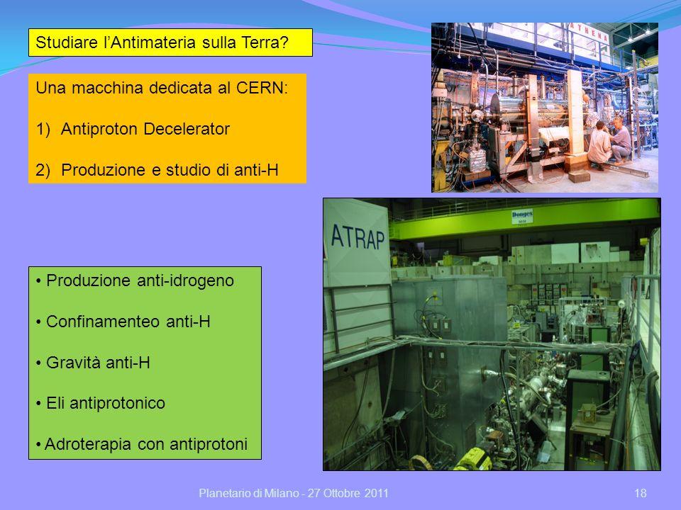 Studiare l'Antimateria sulla Terra