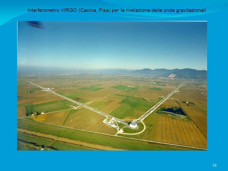 Interferometro VIRGO (Cacina, Pisa) per la rivelazione delle onde gravitazionali