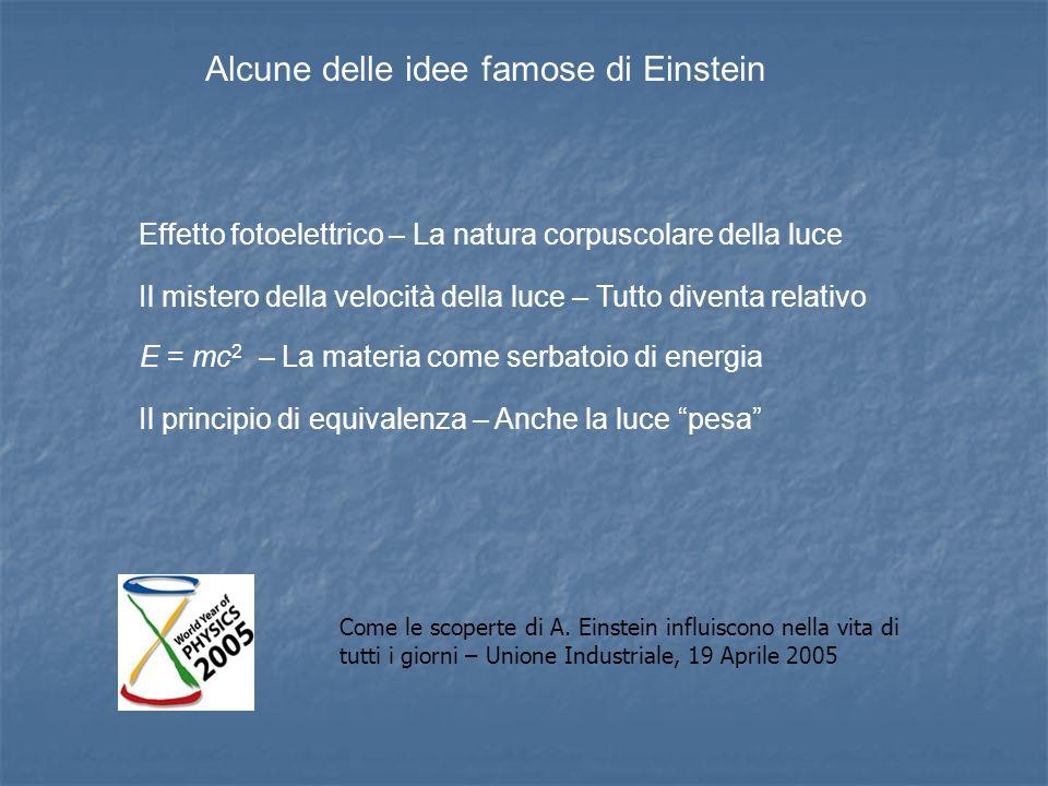 Alcune delle idee famose di Einstein