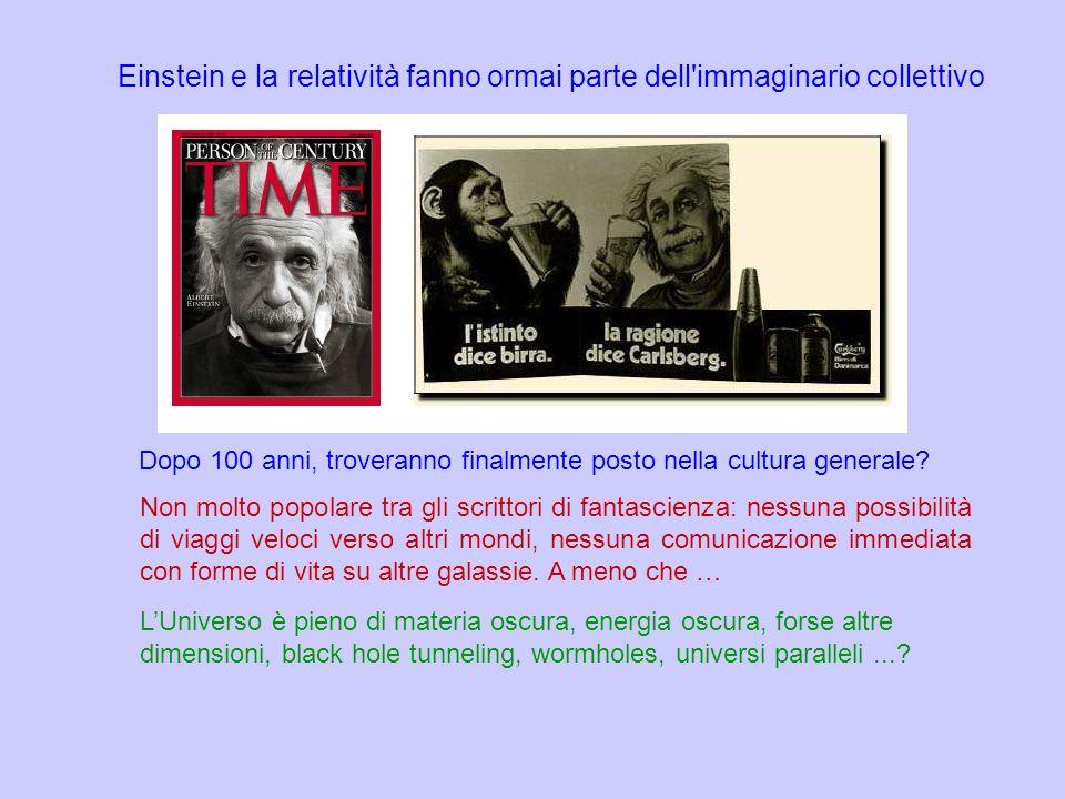 Einstein e la relatività fanno ormai parte dell immaginario collettivo
