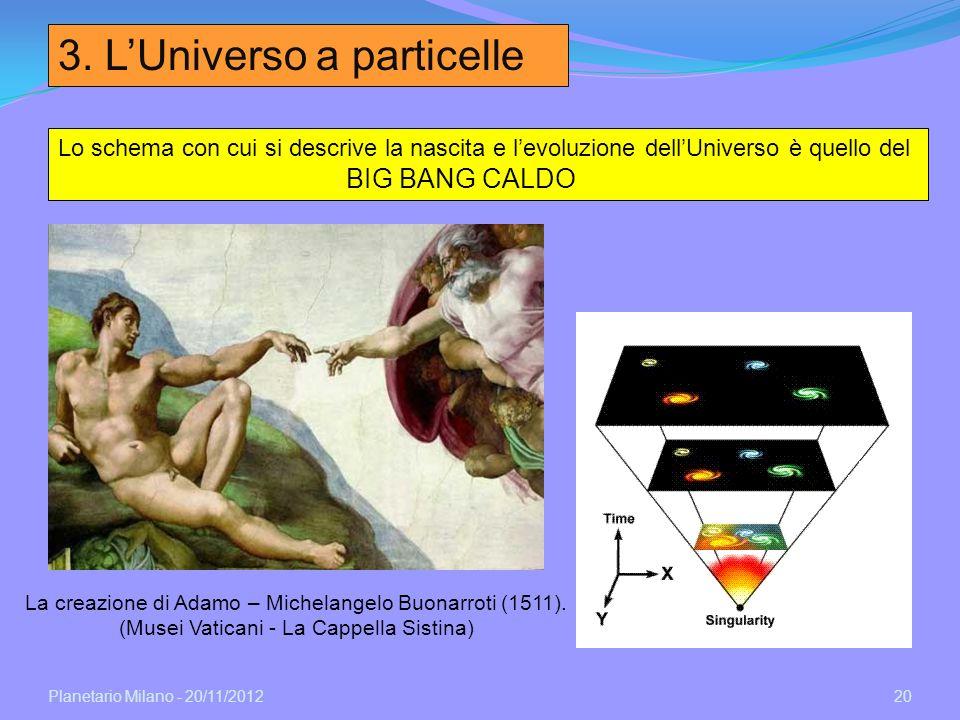 3. L'Universo a particelle