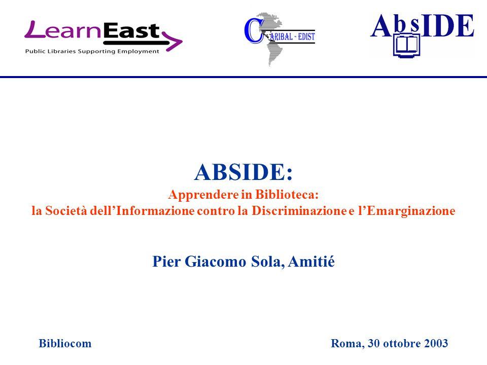 ABSIDE: Pier Giacomo Sola, Amitié Apprendere in Biblioteca: