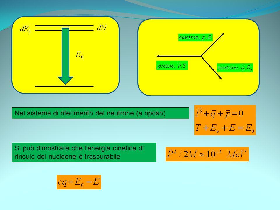 Nel sistema di riferimento del neutrone (a riposo)
