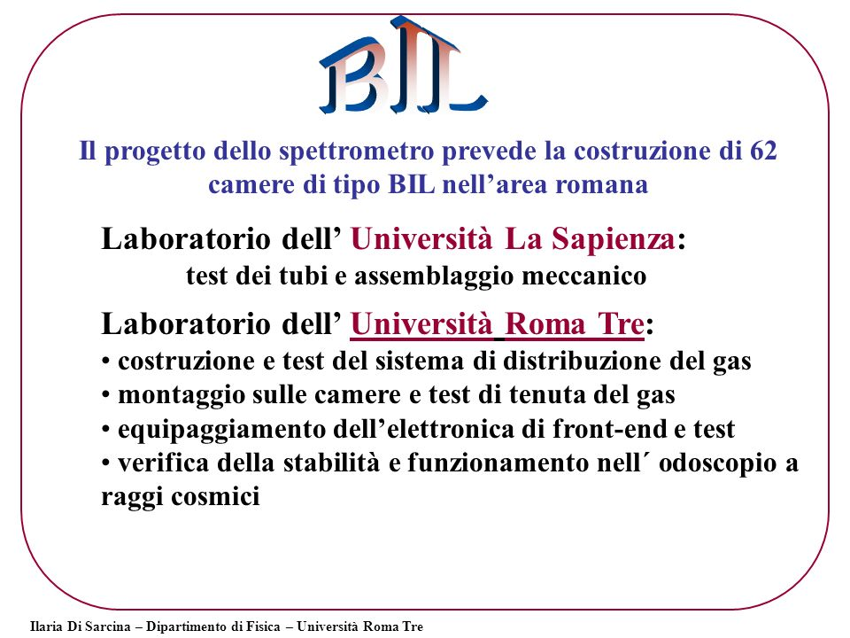 BIL Laboratorio dell' Università La Sapienza: