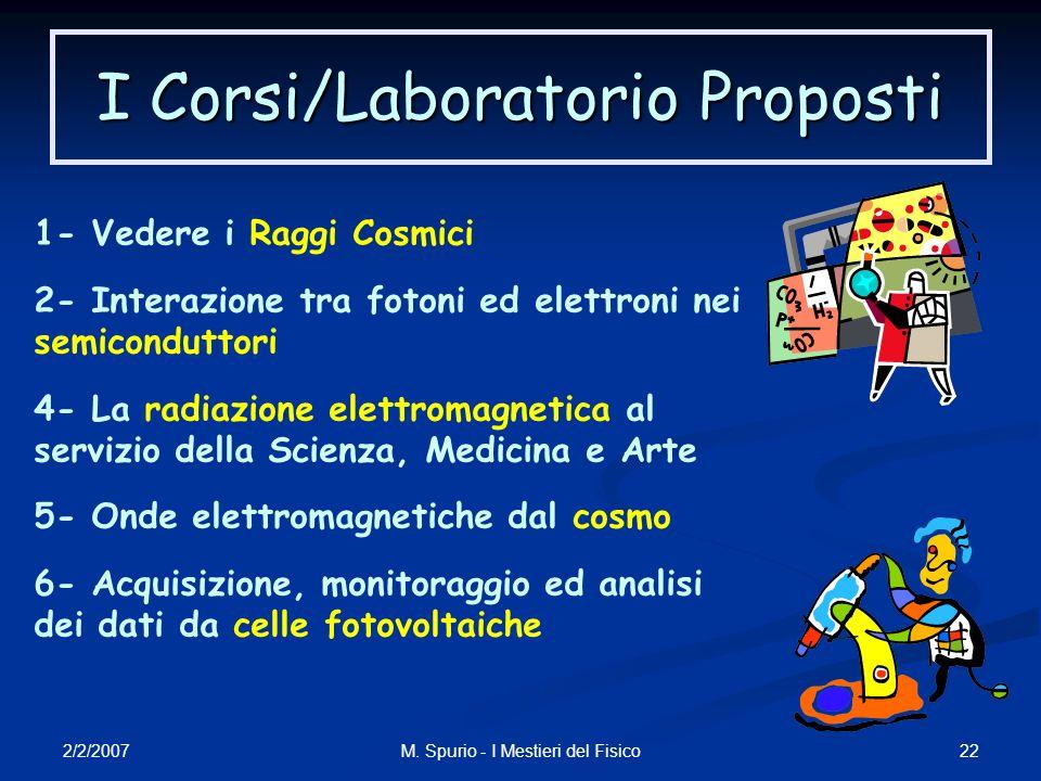 I Corsi/Laboratorio Proposti