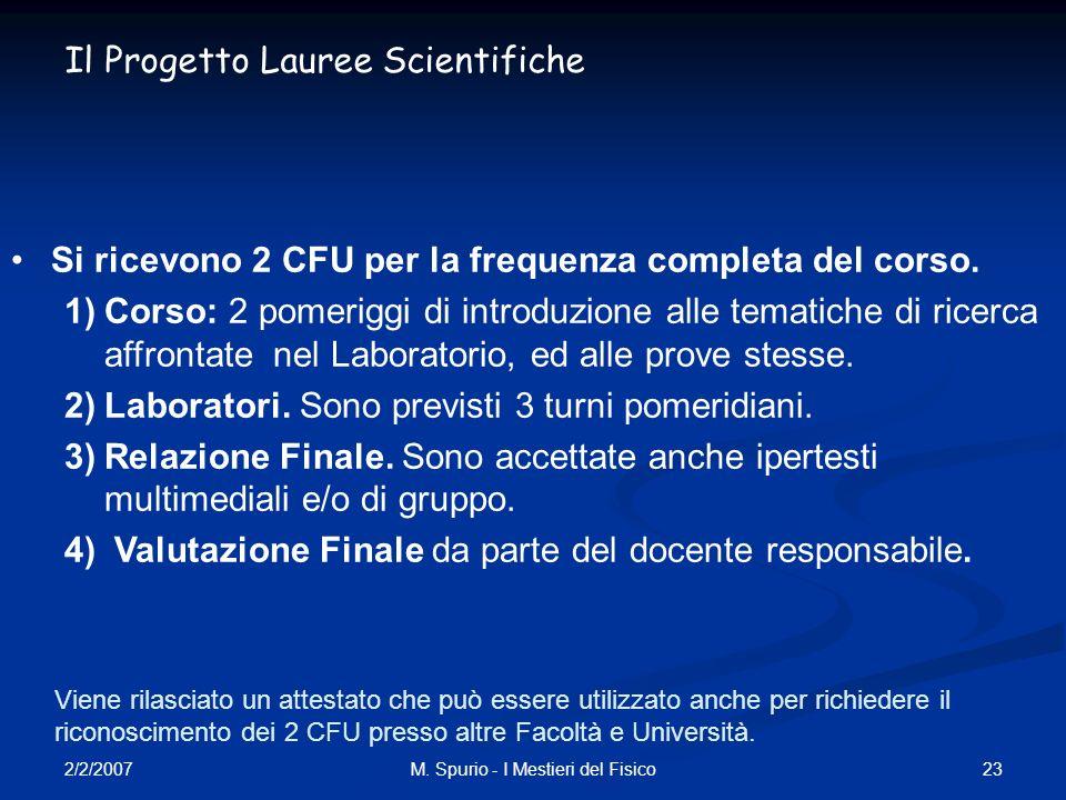 M. Spurio - I Mestieri del Fisico