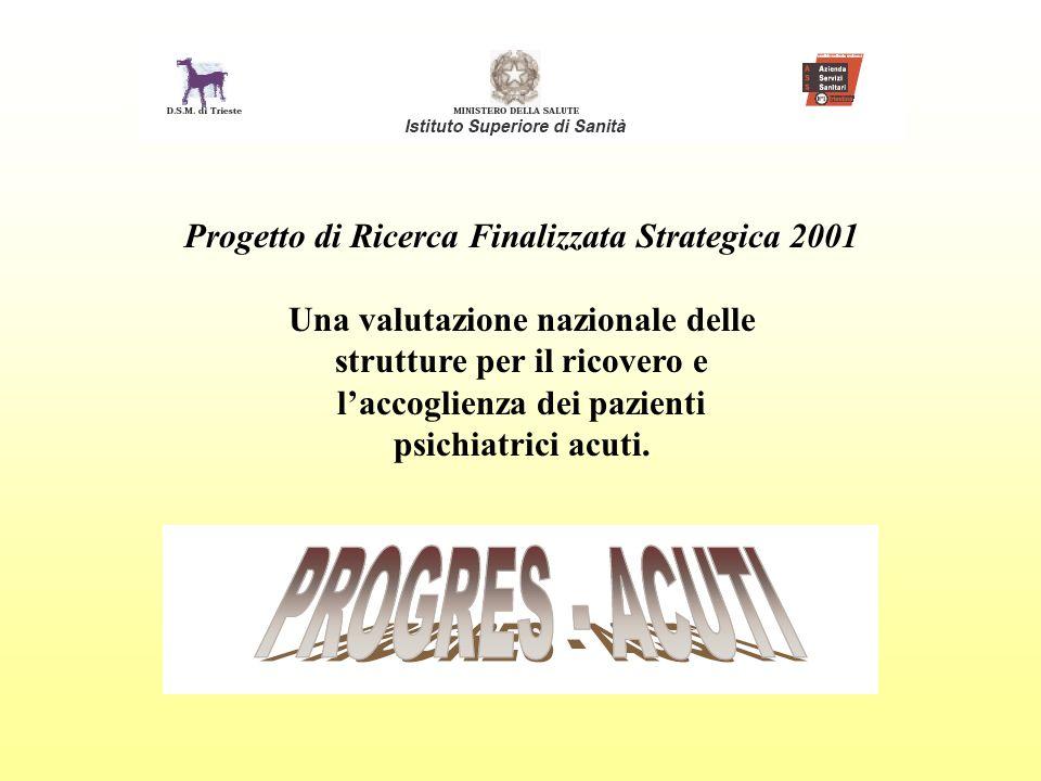 Progetto di Ricerca Finalizzata Strategica 2001