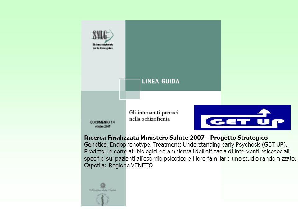 Ricerca Finalizzata Ministero Salute 2007 - Progetto Strategico
