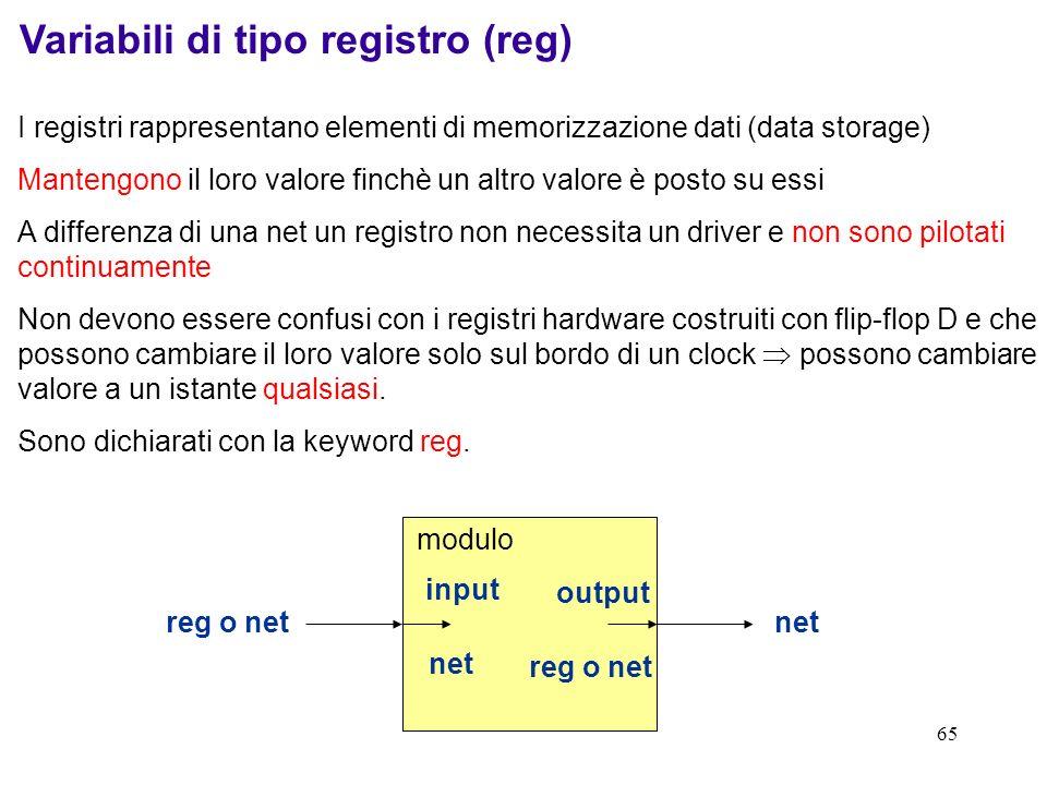Variabili di tipo registro (reg)