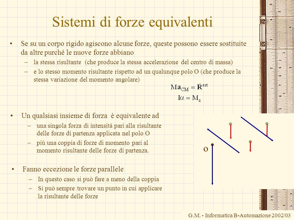 Sistemi di forze equivalenti