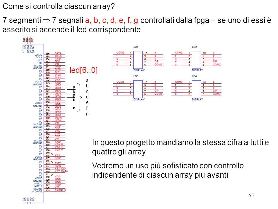 Come si controlla ciascun array