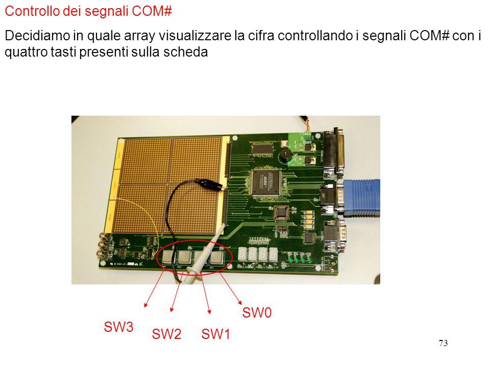 Controllo dei segnali COM#
