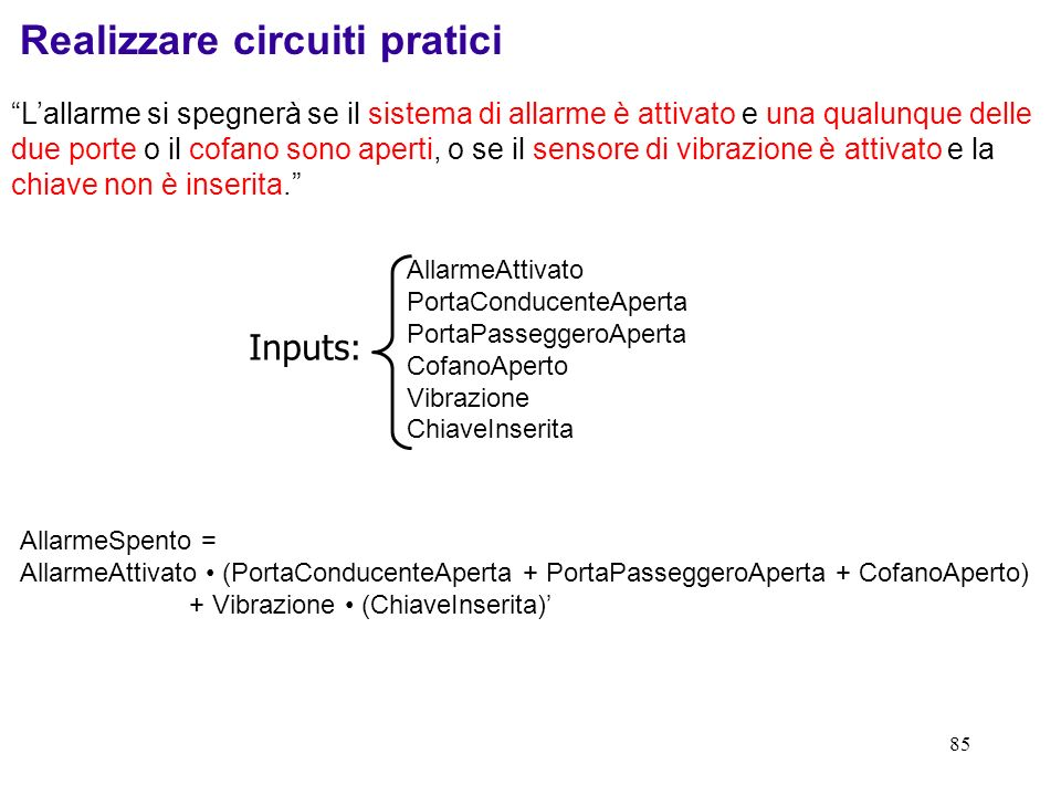 Realizzare circuiti pratici