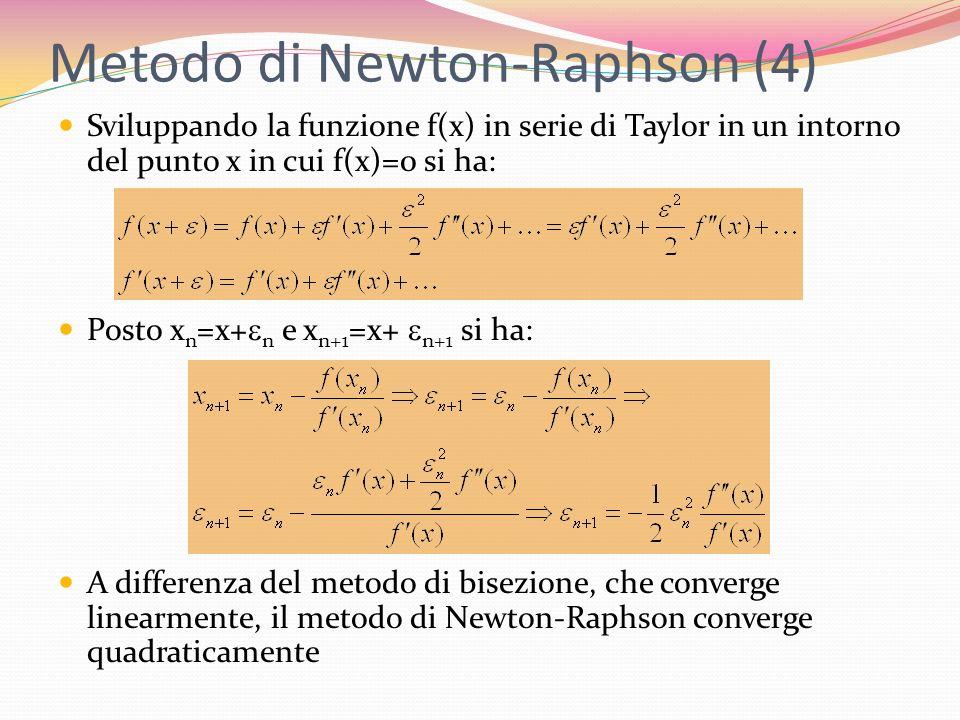 Metodo di Newton-Raphson (4)