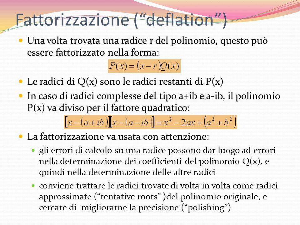 Fattorizzazione ( deflation )