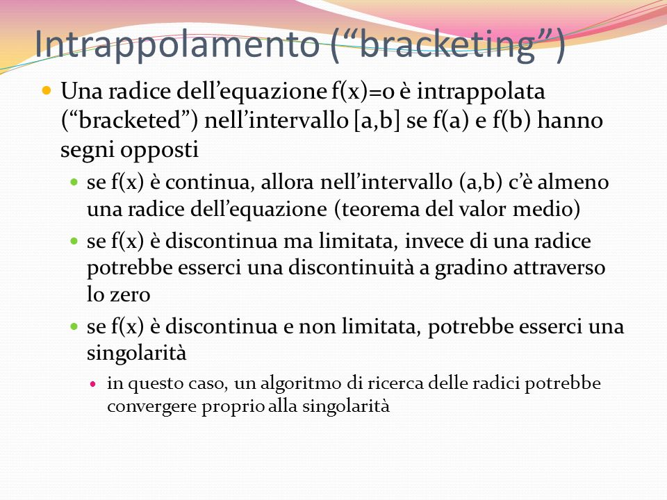 Intrappolamento ( bracketing )