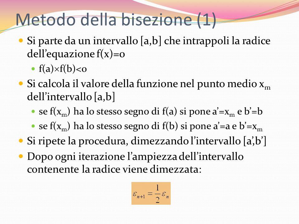 Metodo della bisezione (1)