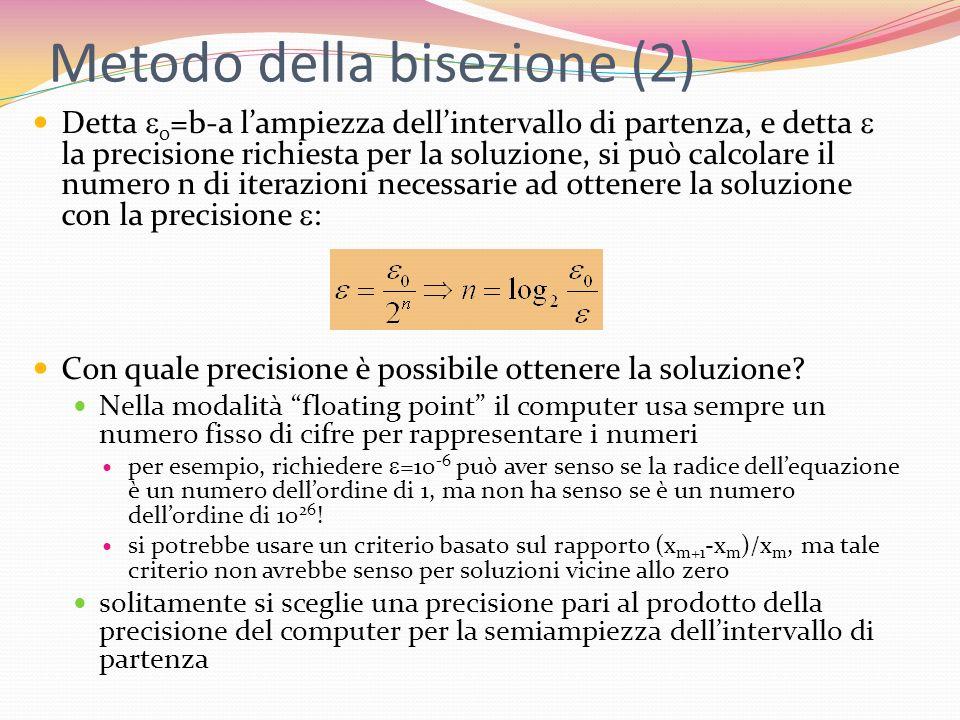 Metodo della bisezione (2)