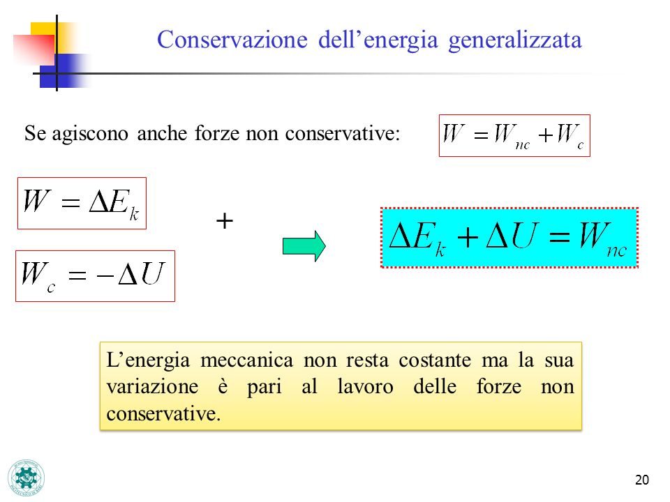 Conservazione dell'energia generalizzata