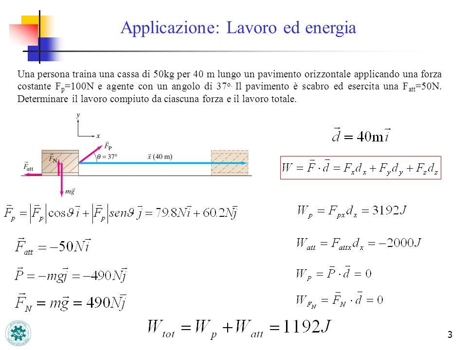 Applicazione: Lavoro ed energia