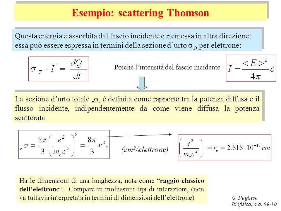 Esempio: scattering Thomson