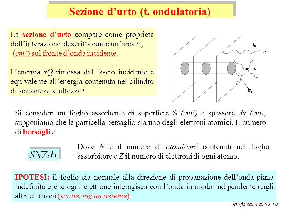 Sezione d'urto (t. ondulatoria)