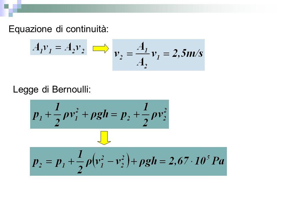 Equazione di continuità: