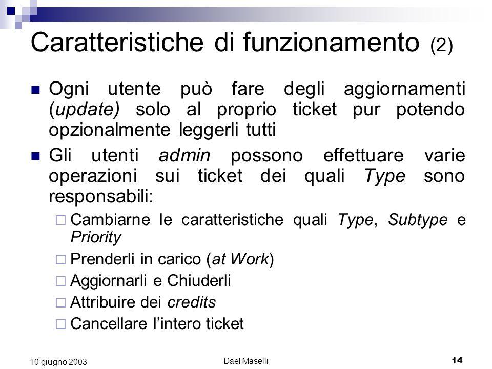 Caratteristiche di funzionamento (2)