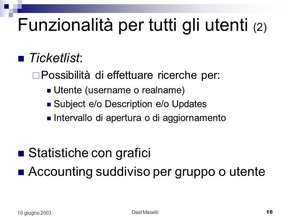 Funzionalità per tutti gli utenti (2)