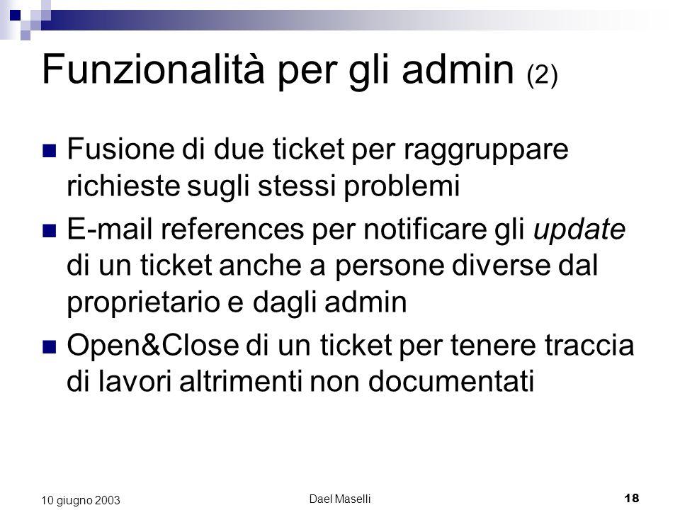 Funzionalità per gli admin (2)
