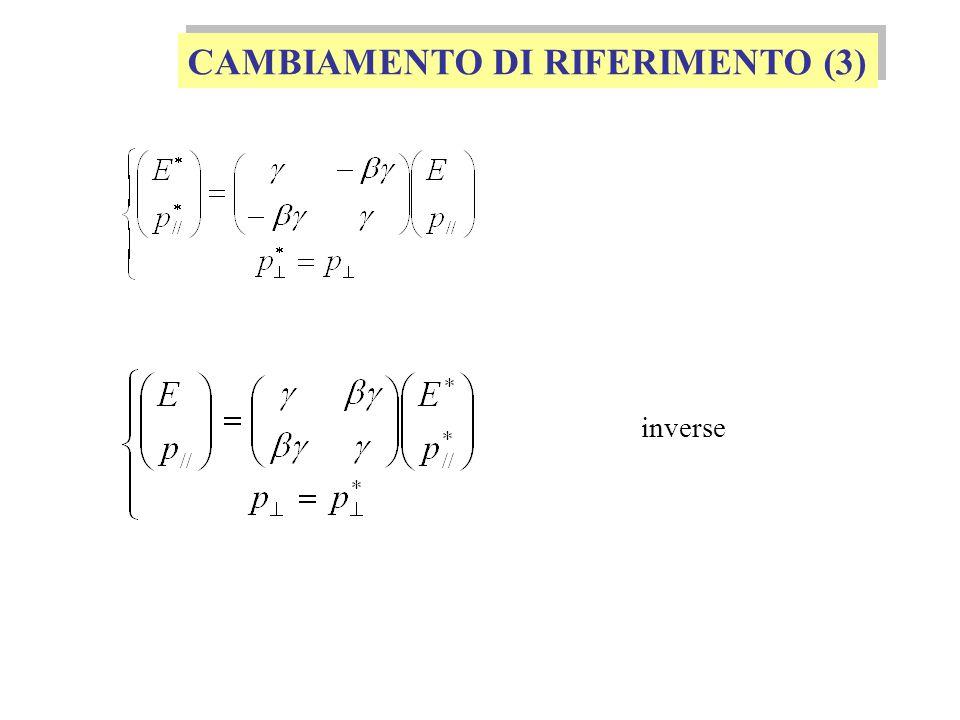 CAMBIAMENTO DI RIFERIMENTO (3)