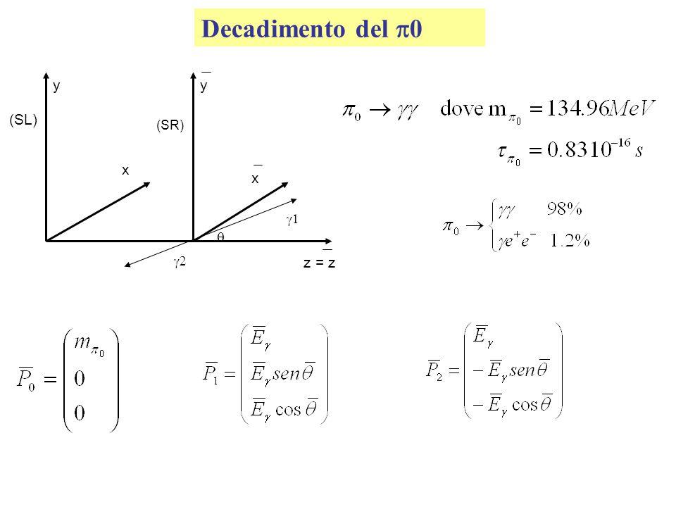Decadimento del p0 (SL) (SR) y z = z  g1 g2 x