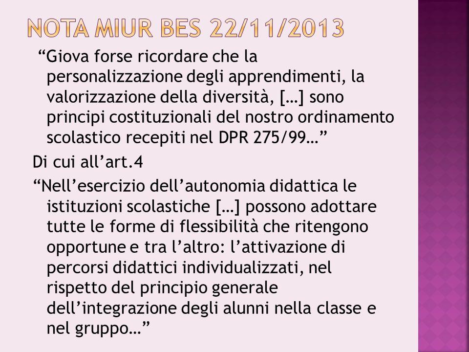 Nota MIUR BES 22/11/2013