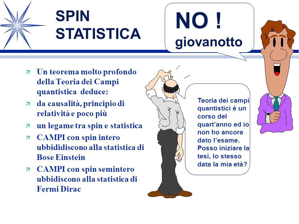 NO ! giovanotto SPIN STATISTICA