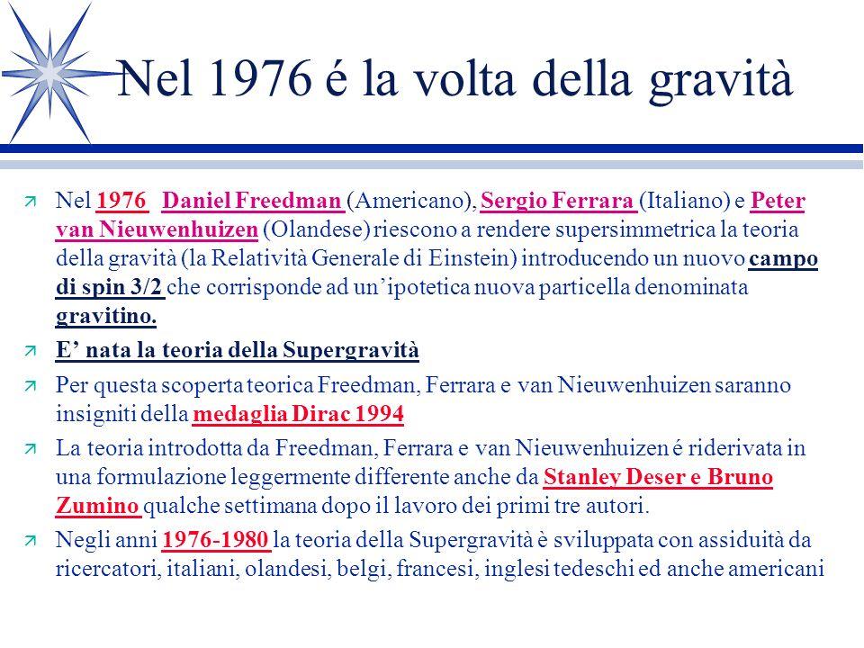 Nel 1976 é la volta della gravità