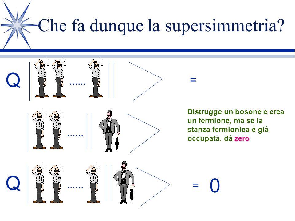 Che fa dunque la supersimmetria